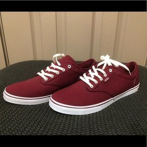 Women's Maroon Vans Shoes